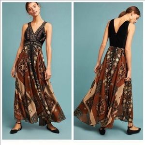 Anthropologie RAGA Shenia Beaded Maxi Dress